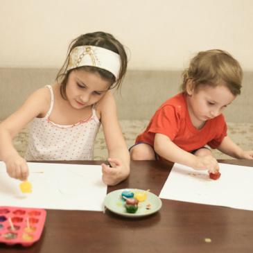 Ледовые карандаши — занятия с детьми.